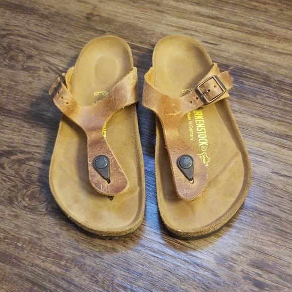 272474b7159 Birkenstock Shoes - New Birkenstock Gizeh Birko-Flor Nubuck Mocha